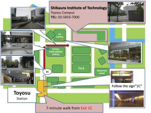 Access map from Toyosu